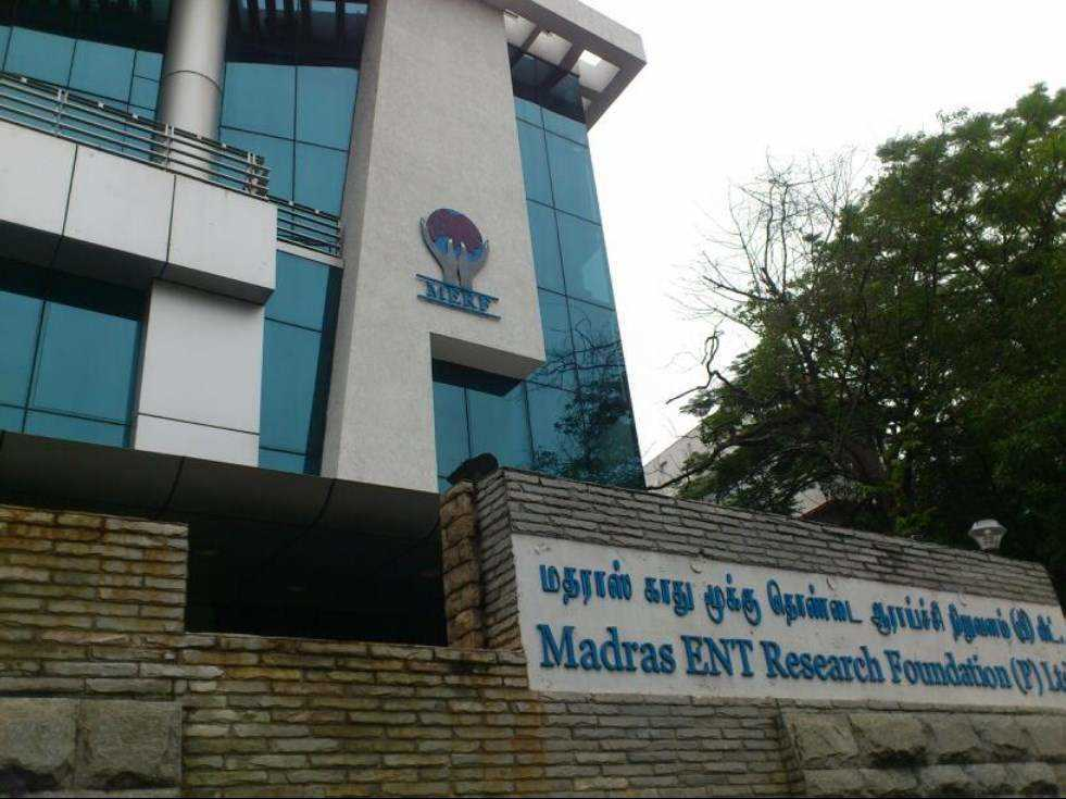 Madras ent research foundation pvt ltd raja annamalai puram chennai ent hospitals p0s7l